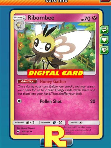 Honey Gather - for Pokemon TCG Online ptcgo in Game Card Ribombee