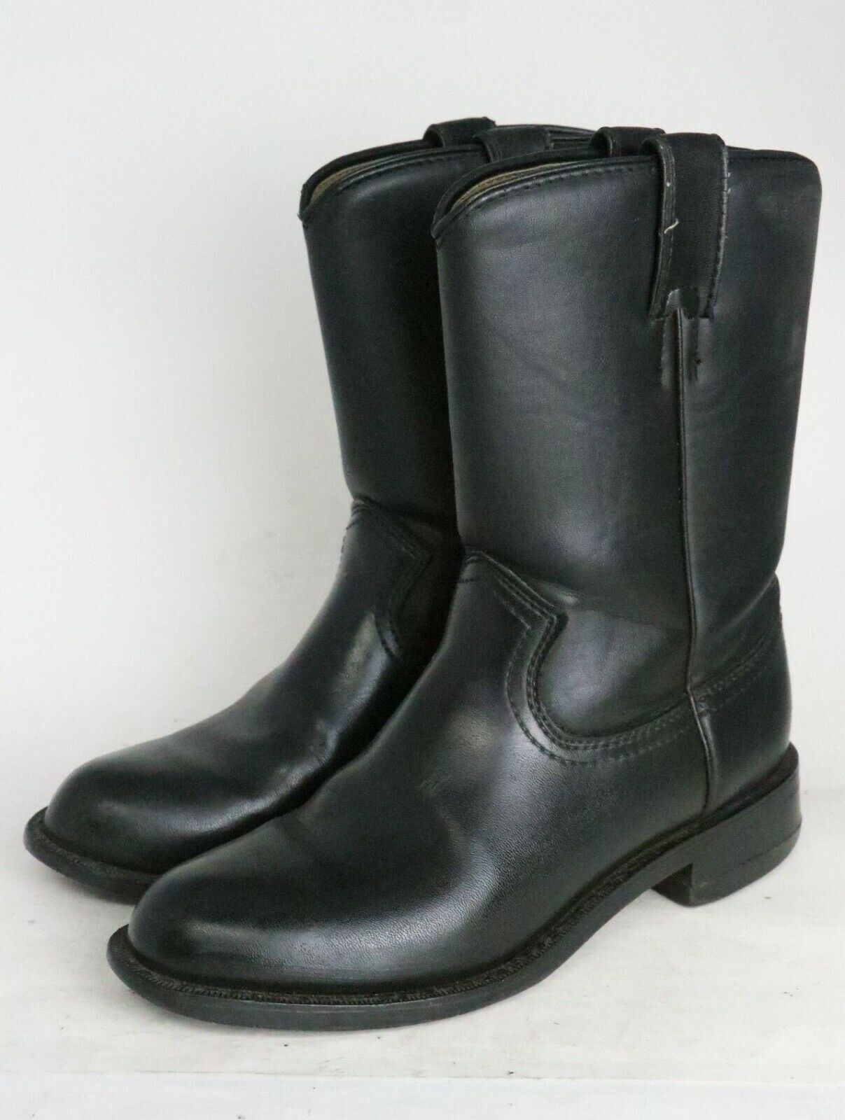 Express Rider Jose 2527298 Black Leather Men's Boots Size 7.5