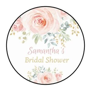 Details About 30 Boho Bridal Shower Stickers Personalized Favors Labels Flowers Wedding Pretty