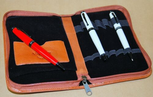 10 20 /& 40 LEATHER PEN CASES ASTON LEATHER