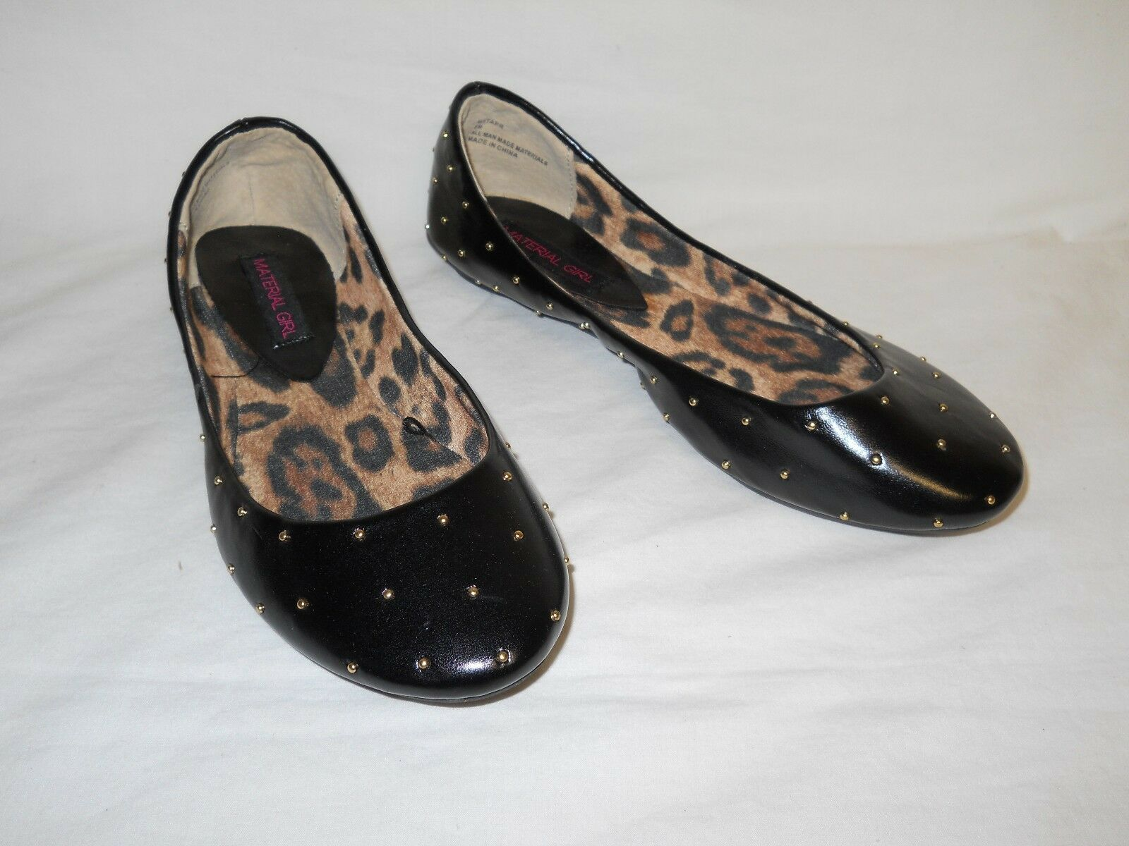 Material Girl New Womens Starr Black Flats 6 M shoes NWOB