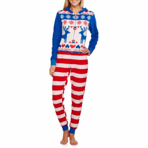NEW Women/'s One Piece Ugly Sweater Costume Union Suit Pajama Christmas L XL 2XL