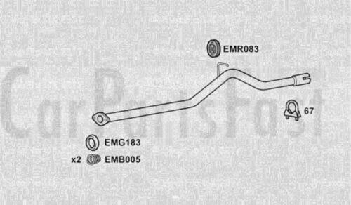 EXMA4005 EXHAUST CENTRE PIPE 3Yr Warranty