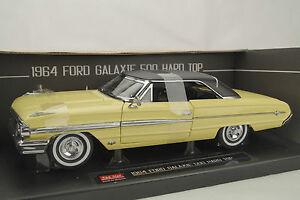 1:18 Sun Star - 1964 Ford Galaxie 500 Toit Rigide Américain Collectibles