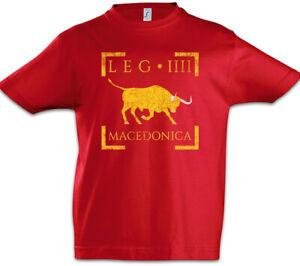 Legio-IIII-Macedonica-Kinder-Jungen-T-Shirt-Rom-Fahne-Roemische-Legion-Standarte