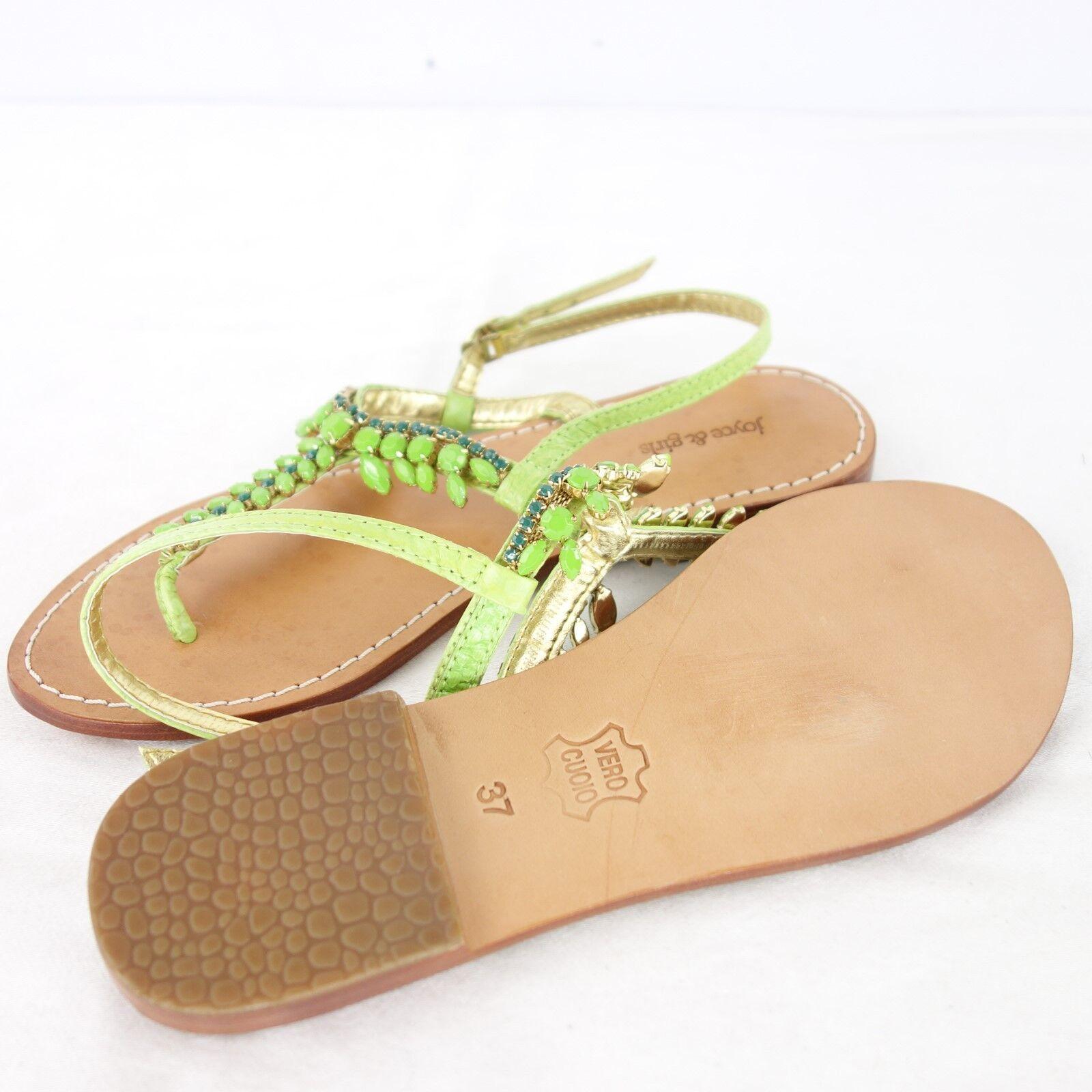 Joyce & Girls zapatos señora sandalias planas zapatos cuero verde NP 139 nuevo