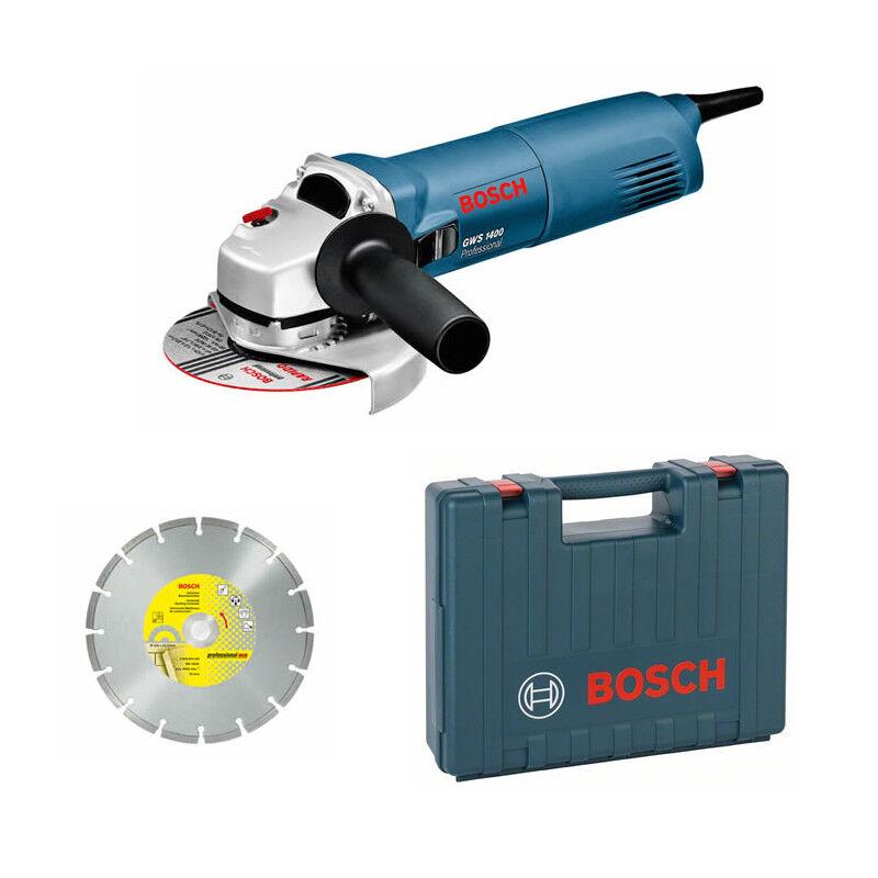 Bosch Winkelschleifer GWS 1400 Professional im Set im Handwerkerkoffer
