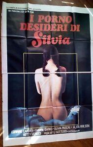 FILM-I PORNO DESIDERI DI SILVIA-MANIFESTO ORIGINALE(200 X 140)N ...