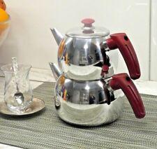 Teekanne 2er Set Aus Aluminium extra leicht Teekocher Caydanlik Kugelförmig
