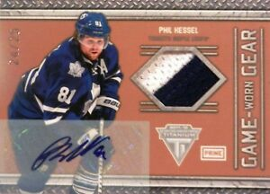 on sale 8c61f 9fd2b Details about 11-12 titanium game-worn gear phil kessel leafs jersey  autograph auto 24/25