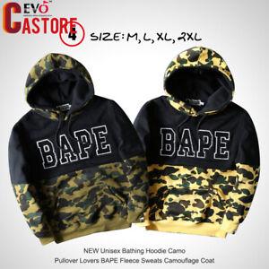 NEW-Unisex-BAPE-Bathing-Hoodie-Camo-Pullover-Lovers-Fleece-Sweats-Coat-Jacket