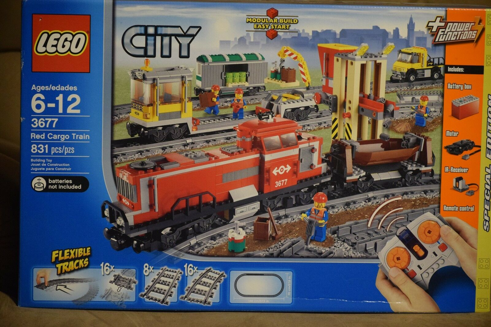 LEGO City Red Cargo Train -  Original Box with Instructions