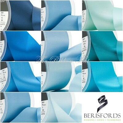 Nastro Di Raso Doppio-berisfords-wide Blues - 1m/2m - Matrimonio Nastro, Nastro Fasce-risfords-1m/2m-wedding,sashes It-it Può Essere Ripetutamente Ripetuto.