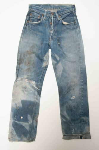 1940's-50's Levi Jeans Levis well worn size 26x29