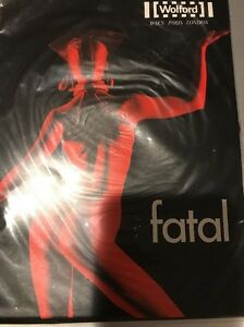 Wolford-Fatal-Seamless-Tights-15-Den-Size-Small-Color-Black-18029-20-Rare