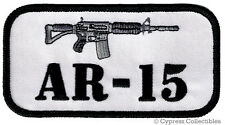 GUN PATCH AR-15 RIFLE EMBLEM 2nd AMENDMENT RIGHTS EMBROIDERED IRON-ON M4 CARBINE