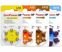 120 Any Size Zenipower Hearing Aids/aid Batteries