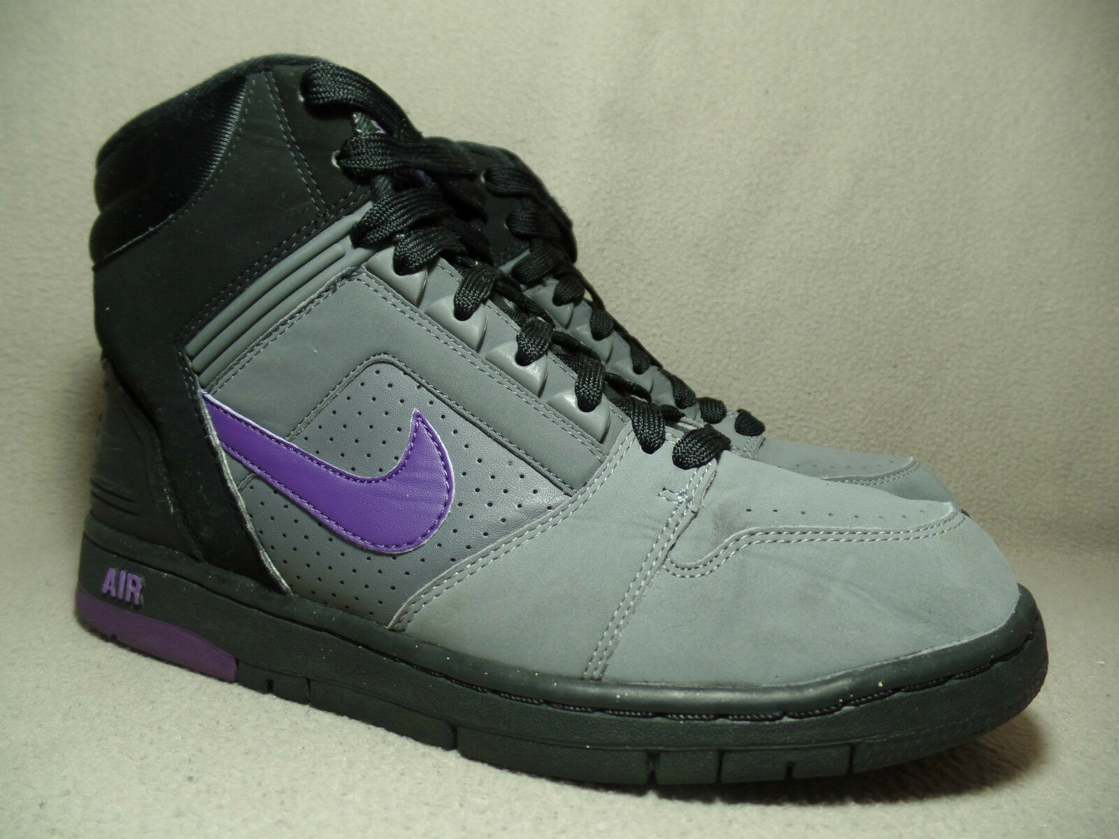 NIKE AIR FORCE 2 RETRO Court Purple/Medium Grey/Black Trainers / Wild casual shoes