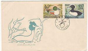 LETTRE-FDC-TCHECOSLOVAQUIE-THEME-CANARD-1967