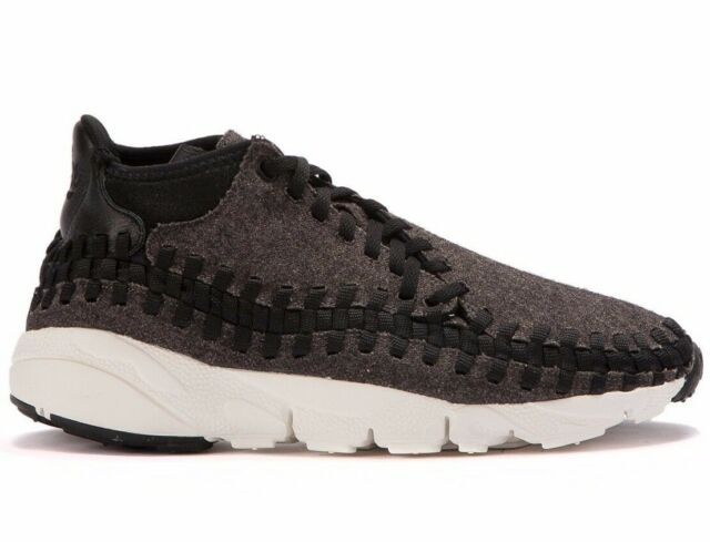 classic fit 244ae 3bc12 NIKE AIR FOOTSCAPE WOVEN CHUKKA ® ( Men Size UK 9 EUR 44 ) BLACK