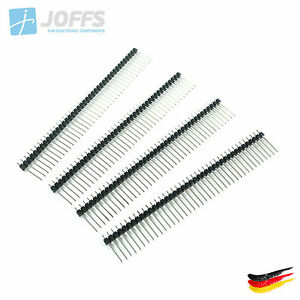 10-x-40-Pin-Stiftleiste-17mm-einreihig-SCHWARZ-2-54mm-Single-Row-Header-Strip