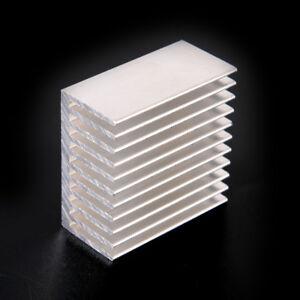 Silver-Tone-Aluminum-Cooler-Radiator-Heat-Sink-Heatsink-40x40x20mm-HI