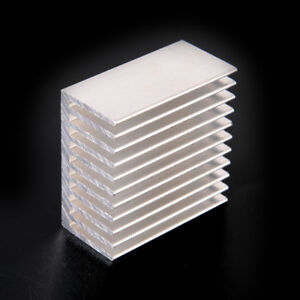 Silver-Tone-Aluminum-Cooler-Radiator-Heat-Sink-Heatsink-40x40x20mm-In-US