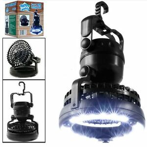 2-in-1-Portable-18-LED-Tent-Camping-Light-Hiking-Outdoor-Lantern-w-Ceiling-Fan