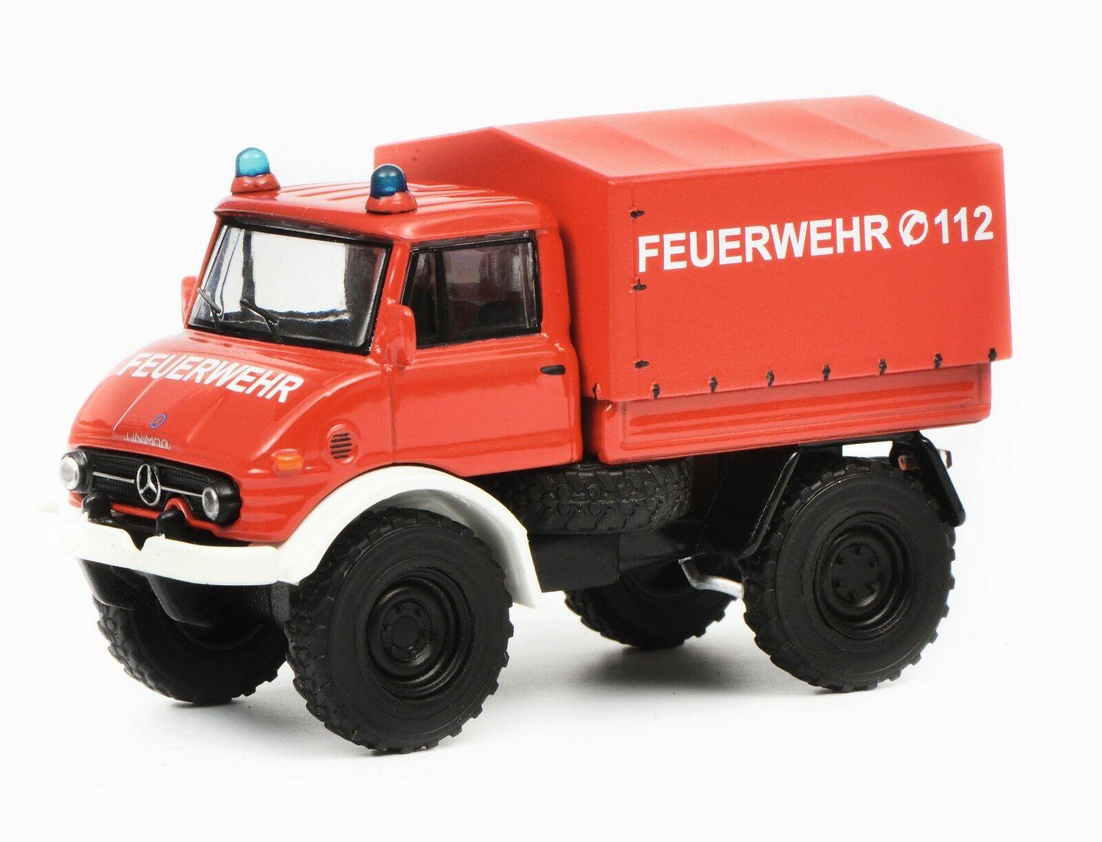 MB Unimog u 406 Bombero 1 64 Schuco 20173