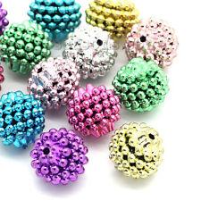 50 Mix Rund Acryl Spacer Perlen Beads 15mm inkl.Porto