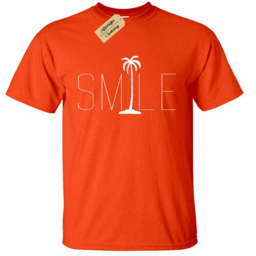KIDS BOYS GIRLS Smile Palm Trees Graphic Tee Beach Bum Ocean Graphic Tee T-Shirt