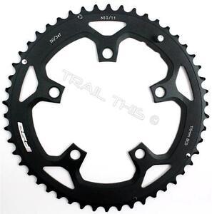 FSA Pro Road 50T x 110mm 10-Speed Black Bicycle Chainring N10//11 use w// 34T