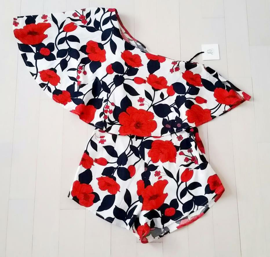 130 DRA LOS ANGELES Clothing FLORAL One Piece ROMPER ( S ) Free Shipping
