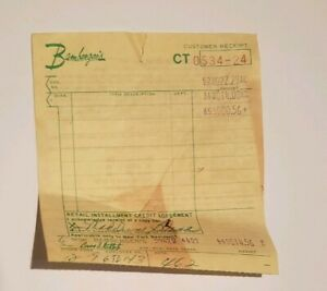 Vintage-Bamberger-039-s-Department-Store-Receipt-Shop-Ephemera-1960s-1970s-Yellow
