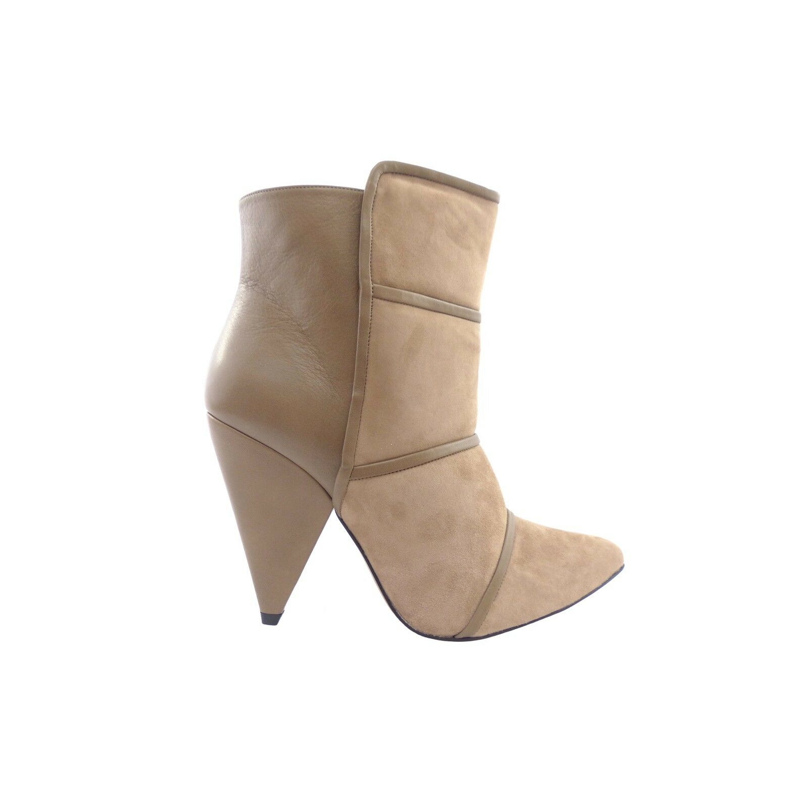 IRO Naade Naade Naade Beige Taupe Suede & Leather Ankle Boots c26731