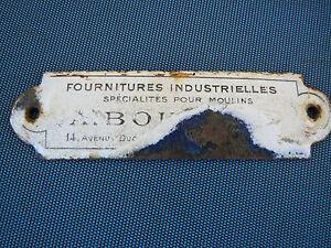 ancienne plaque maill e plaque emaill vintage design deco loft industriel ebay. Black Bedroom Furniture Sets. Home Design Ideas