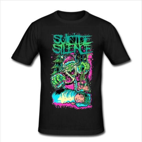 4 SUICIDE SILENCE Men/'s Slim Fit T Shirt Size S,M,L,XL,2XL