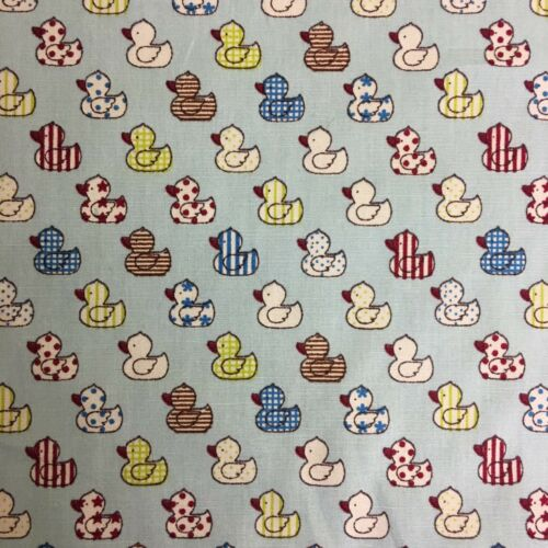 Rubber Ducks 100/% Cotton Fabric Material by HALF METRE  Blue or Pink