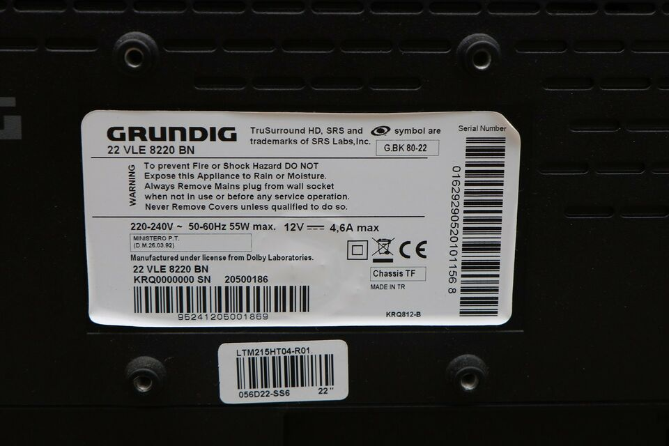"LED, Grundig, 22"" LED-TV 22 VLE 8220 BN"