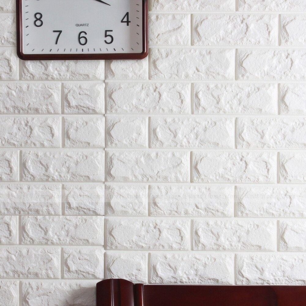 20 Roll 3d Effetto Flessibile Mattone Di Pietra Viny Parete Carta Da