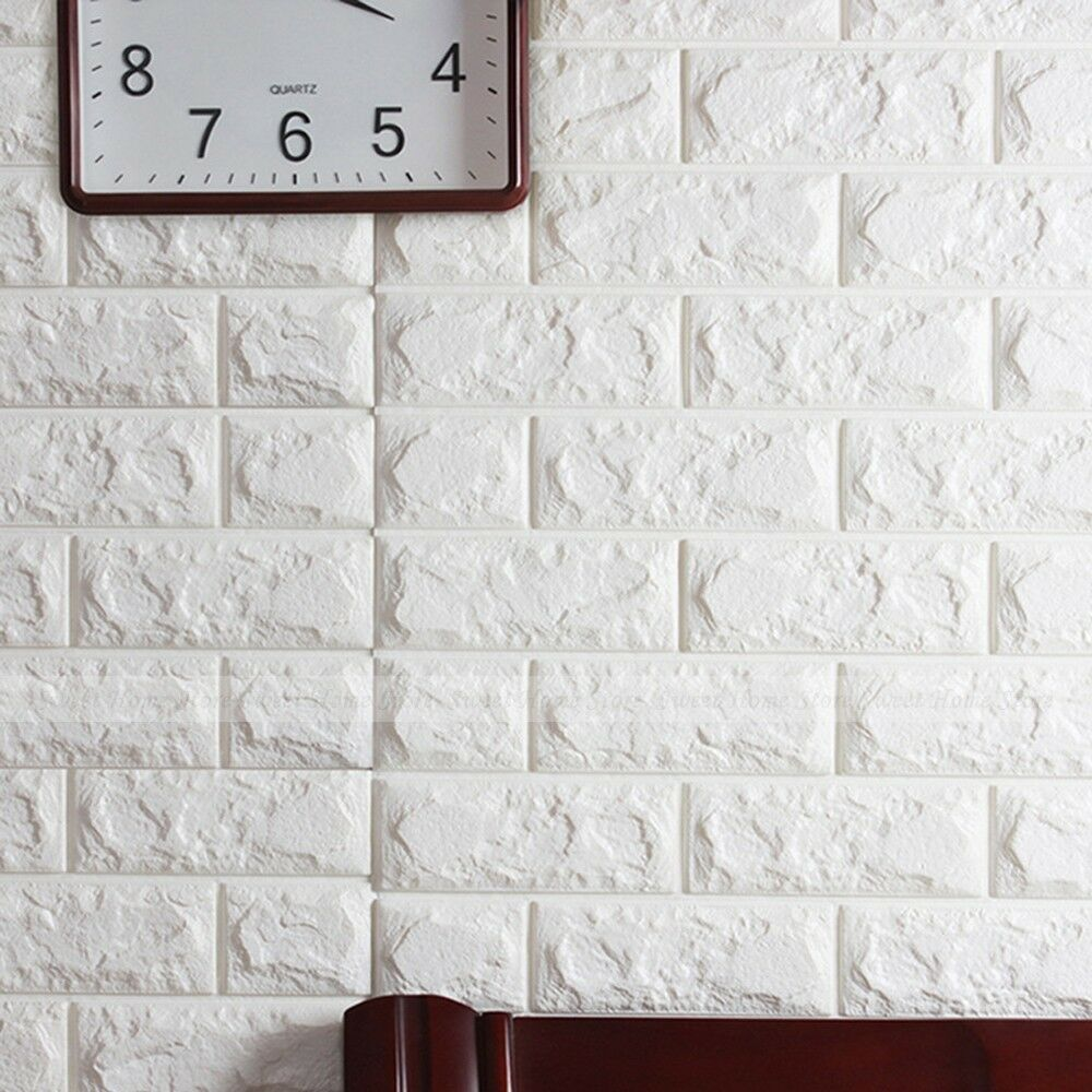 50 Roll 3d Brick Pattern Wallpaper Home Bedroom Modern Wall