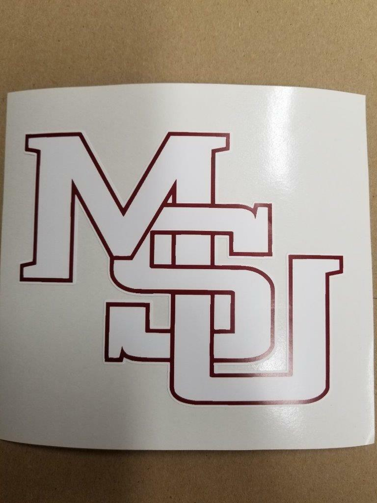Mississippi State Bulldogs cornhole board or vehicle decal(s)MS5