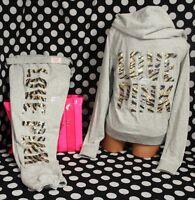 Victoria's Secret Pink Set (m)bling Perfect Zip Hoodie+(s)skinny Pant Gold Tiger