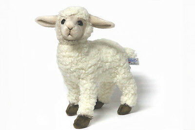 Hansa Toys White Kid Sheep Lamb #3455 Realistic Plush Stuffed Animal New