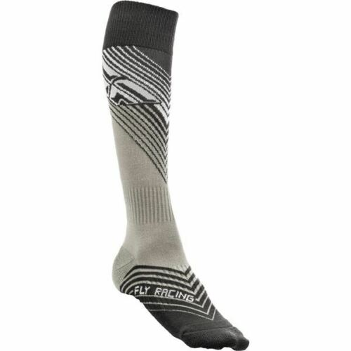 Black//White All Sizes Fly Racing Thin MX Socks