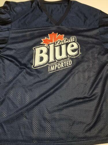 Vtg 90s Labatt Blue Mesh Hockey Jersey Mens Size L