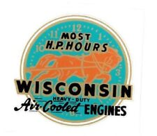 Wisconsin Air Cooled Engines Decal Gas Engine Motor