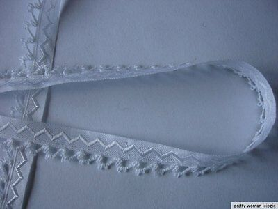 10m Trachtenborte 0,40€/m weiß 1,1cm breit  KI55