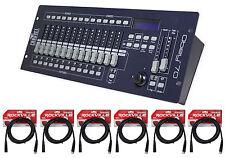New! Chauvet DJ OBEY 70 Light/Fog DMX Lighting Controller+(6) 10 ft. DMX Cables