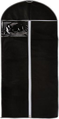 Noir Solide Respirant Long Vêtement Costume Vêtements robe sac de rangement